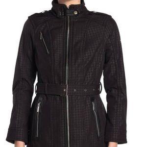 Michael Kors Missy Faux Leather Trim Jacket